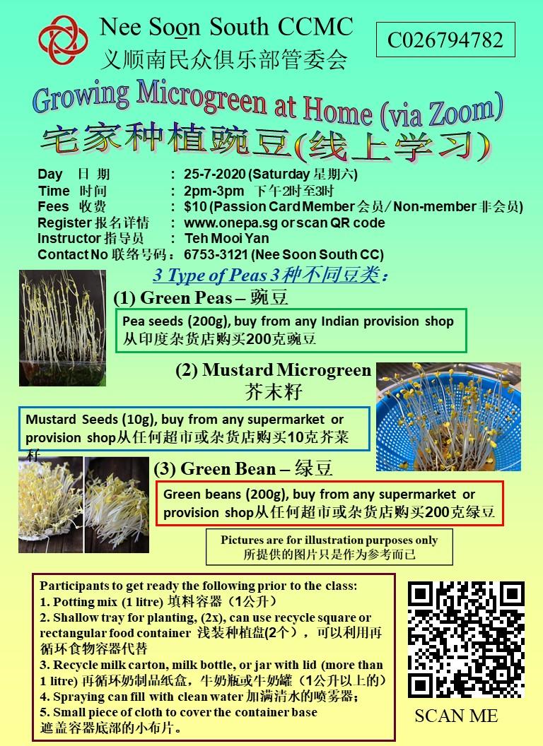 Growing Microgreen At Home (Via Zoom)