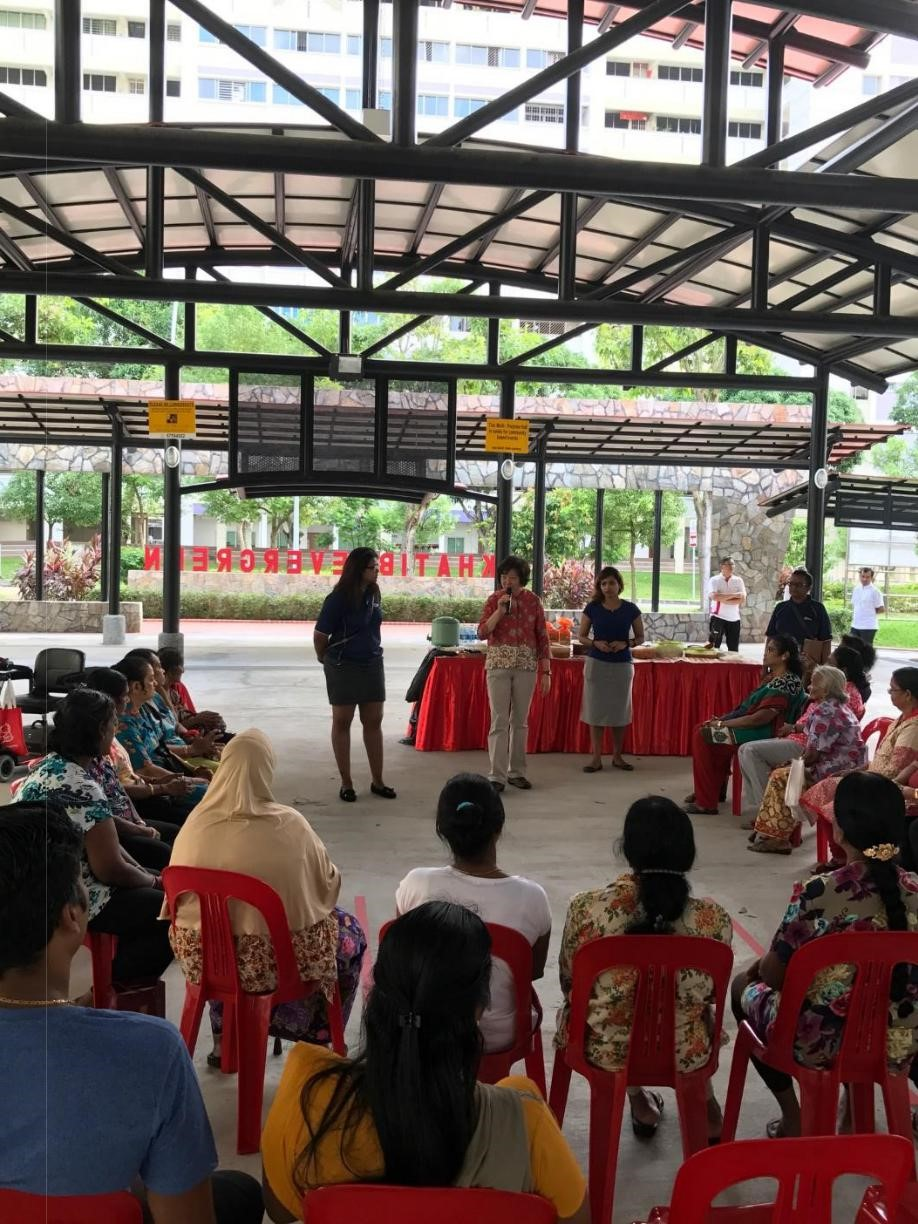 IAEC Thinnai-Potluck get-together with residents (Zone E)