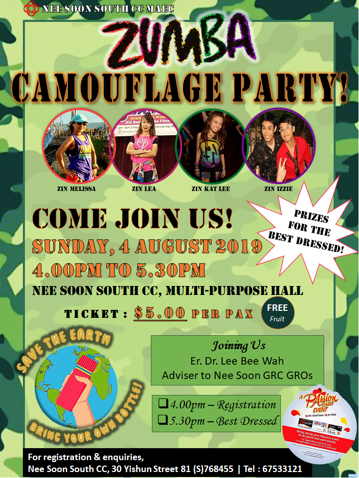 Zumba Camouflage Party